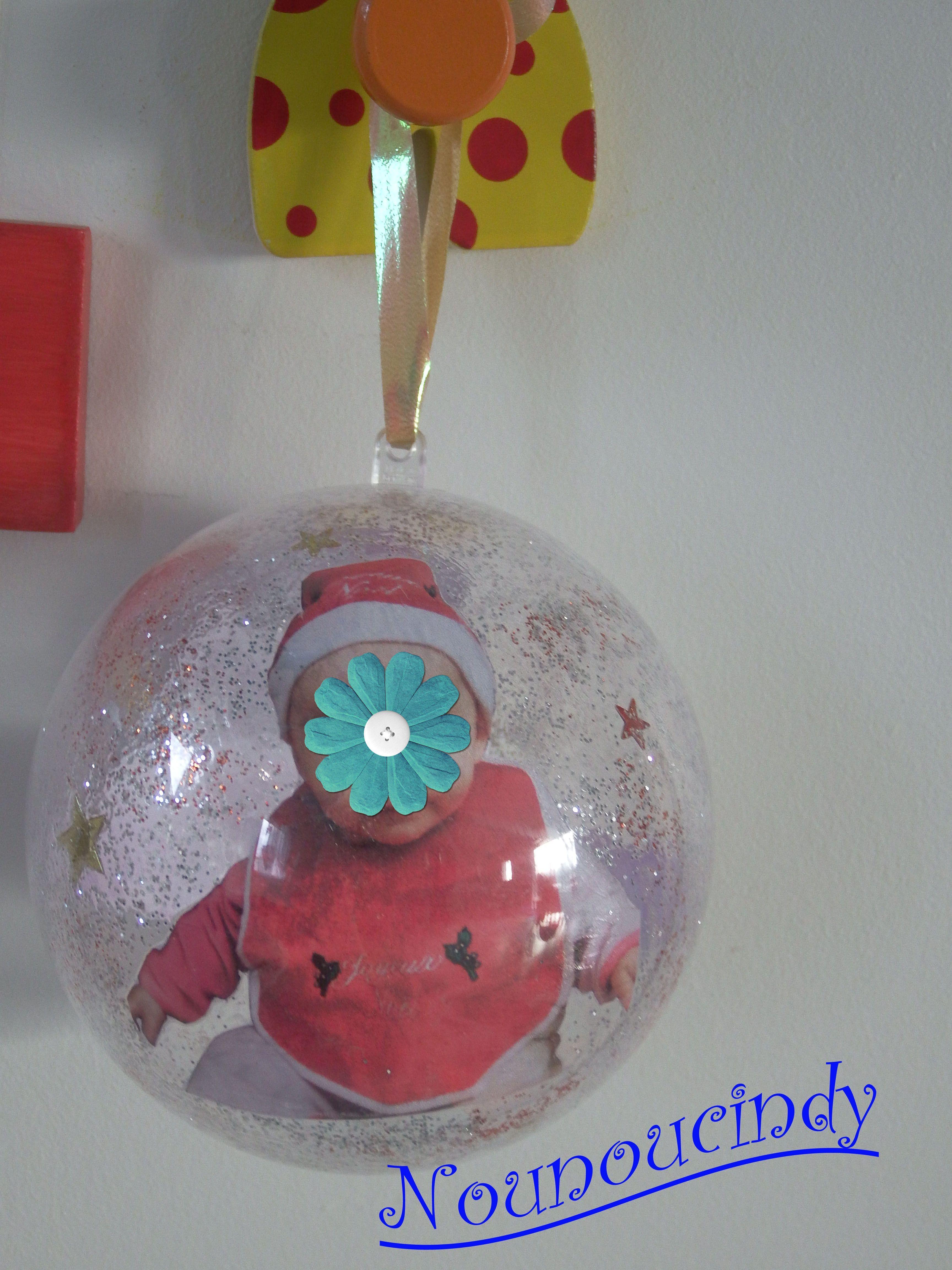 Boule plastique transparente avec photo - Boule plastique transparente ...